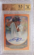 2013 Bowman Chrome Jonathon Crawford Orange Refractor Auto #14/25 BGS 9.5