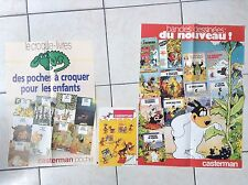Lot de deux affiches et un catalogue Casterman 1980 TBE Tintin