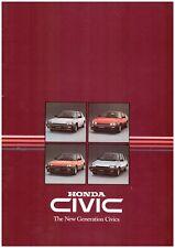Honda Civic Range UK Market Brochure 1984 Inc Deluxe S Shuttle & CRX Coupe