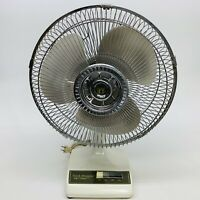 """Vintage Cool-Breeze 16"""" Oscillating Fan 3-Speed Table Top"""