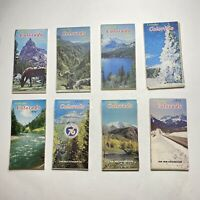Lot Of 8 VINTAGE Colorful Colorado 1970s Official Highway Map