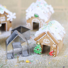 Christmas Gingerbread House Biscuit Cutter Set Stainless Steel Cookie Mould 3Pcs