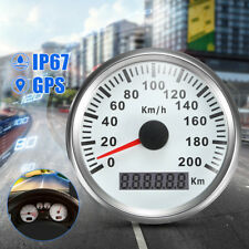 200KM/h 85mm Digital GPS Speedometer Stainless Waterproof Gauge Antenna For Car