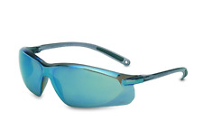 NORTH BY HONEYWELL UVEX A703 Safety Glasses, Blue Mirror, Scratch-Resistant