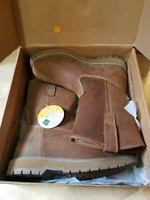 "Muck Boot Company Wellie Classic 10"" Leather Brown Work Boots Size 8.5"