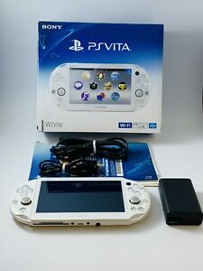 SONY PS Vita PCH-2000 Slim White Wi-Fi LCD w/ Charger & Box - US SELLER