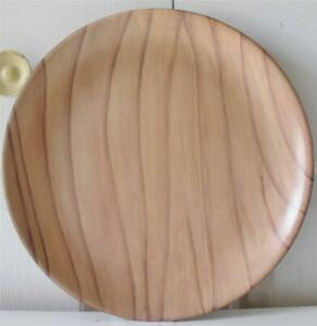 """New Threshold Decorative Wood Candle Plate 11"""" Diameter (27.9cm) Hostess Gift"""