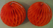 Vintage Bundle of 2 Halloween Hanging Honeycomb Tissue Balls