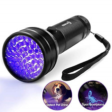 Esco Lite Black Light Uv Flashlight, Escolite Uv Lights 51 Led Ultraviolet Pet