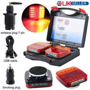 LED Magnetic Wireless Rear Tail Lights Battery Operated USB Tow Tail Trailer  UK