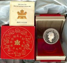 PIECE 15$ CANADA Astrologie Chinoise Argent 92,5% centre de la pièce plaqué OR