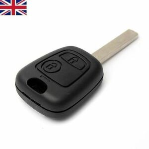 Peugeot 2 Button 107 207 307 Remote Fob Key Case With Uncut VA2 BLADE NEW