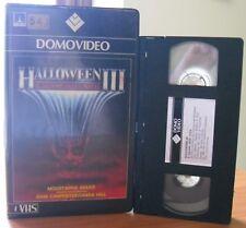 VHS ex-noleggio - HALLOWEEN 3 - IL SIGNORE DELLA NOTTE - DOMOVIDEOVIDEO - RARA