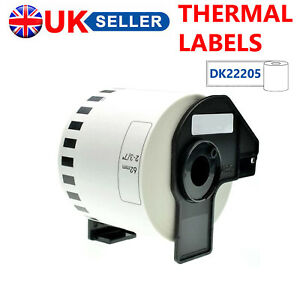THERMAL LABEL ROLLS FITS BROTHER DK22205 DK-22205 DK 22205 P-TOUCH PRINTERS 62MM