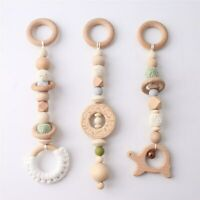 Donut Turtle Beech Wood Silicone Beads Baby Teething Activity Play Gym Toys Set