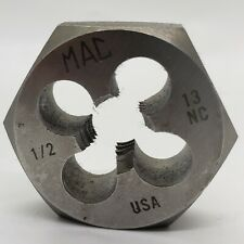 """MAC Tools 1/2"""" x 13 Rethreading Die Carbon Steel USA Made. New"""