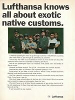 1969 Original Advertising' Lufthansa Germany Airlines Exotic Native Customs