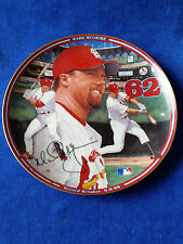 "Mark McGwire ""Home Run Hero"" Home Run #62 Collector Plate Bradford Exchange"
