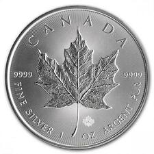Lotto 10x1 oz Silver Maple Leaf ounce 10 once purissimo argento 999.9 nuove 2015