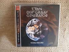 VAN DER GRAAF GENERATOR WORLD RECORD MINI LP CD JAPANESE JAPAN JPN MINT