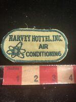 Vtg HARVEY HOTTEL INC. AIR CONDITIONING Advertising Patch 99B8