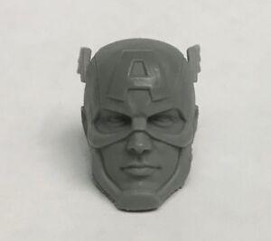 Marvel Legends ML Captain America Mezco 1:12 Scale Custom Sculpt Head