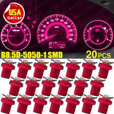 20x Pink T5 B8.5D Car Gauge 5050 1SMD LED Bulb Speedo Dashboard Dash Side Light