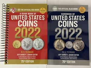 2022 Red Book Price Guide, Spiral and 2022 Blue Book, Handbook of U.S. Coins