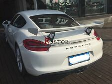 FRP GT4 STYLE GT WING REAR SPOILER FOR 2012-2015 PORSCHE BOXSTER CAYMAN 981.1