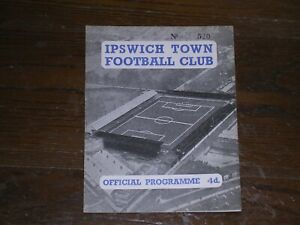 1958/59  IPSWICH TOWN RESERVES v WEST HAM UNITED RESERVES  FOOTBALL COMBINATION