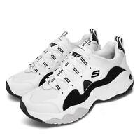 Skechers D Lites 3-Zenway White Black Mens Lifestyle Shoes Sneakers 52683-WBK