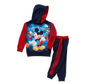 MICKEY MOUSE Toddler Boy's Fleece Hoodie and Pants 2 Piece Set - 2T/NP2 ($9.98)