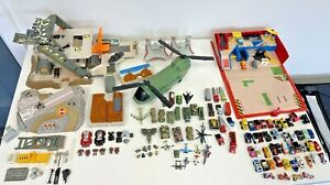 Micro Machines Bundle Vintage Job Lot Cars Articulates Military Helicopter Base