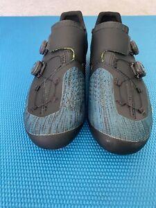 Fizik Transiro R1 Infinito Knit Blue/Black/Green - 44 Shoes Used But Great Shape