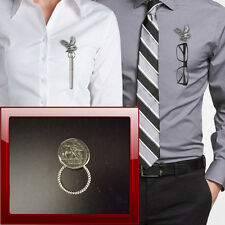 Caesar Coin jcpin Pewter Pin Brooch Drop Hoop Holder For Glasses,Pen