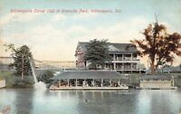 Postcard Indianapolis Canoe Club at Riverside Park Indianapolis Indiana~125098