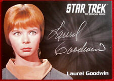 STAR TREK TOS LAUREL GOODWIN as Yeoman Colt CAPTAIN'S COLLECTION Autograph Card
