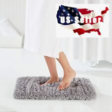 Fluff Bath Mat Shaggy Bathroom Mat Water Absorbent Plush Bathroom Rug 2' x 3'
