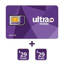 Ultra Mobile Preloaded $29 Sim Card With 2 Months Services Included