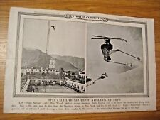 VINTAGE 1933 ADVERTISING SPORTS PICTURE ~ DIVING CHAMPION & STUNT SKIER