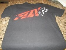 Fox Racing T-Shirt - Black - Small - Red Logo
