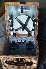 Picnic Basket for two ~ inc. plates glasses cutlery