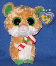 """TY BEANIE BOOS BOO'S - CANDY CANE the 6"""" HAMSTER - MINT with MINT TAGS"""