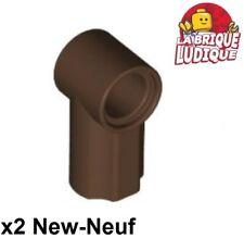 Lego technic 2x Axe Axle pin connector angled #1 marron f/dark brown 32013 NEUF