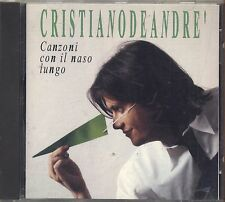 CRISTIANO DE ANDRE' - Canzoni con il naso lungo - MASSIMO BUBOLA CD 1992 USATO