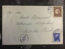 1943 Slovakia Register Censored Cover To Germany