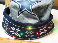 NEW Dallas Cowboys LED Light up Winter SANTA HAT Adult Size Cap tailgate Party