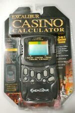Casino Calculator and Hand Held 5 in 1 games Poker Black Jack Slots Excalibur
