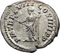 CARACALLA 198AD Authentic Genuine Silver Ancient Roman Coin PAX PEACE i73547