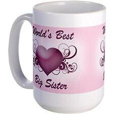 11oz mug World's Best Big Sister Heart Large Ceramic Coffee mug